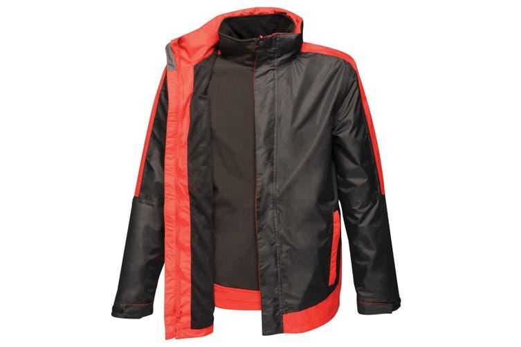 Regatta Mens Contrast 3-In-1 Jacket (Black/Classic Red) (3XL)