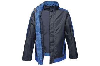 Regatta Mens Contrast 3-In-1 Jacket (Navy/New Royal Blue) (2XL)