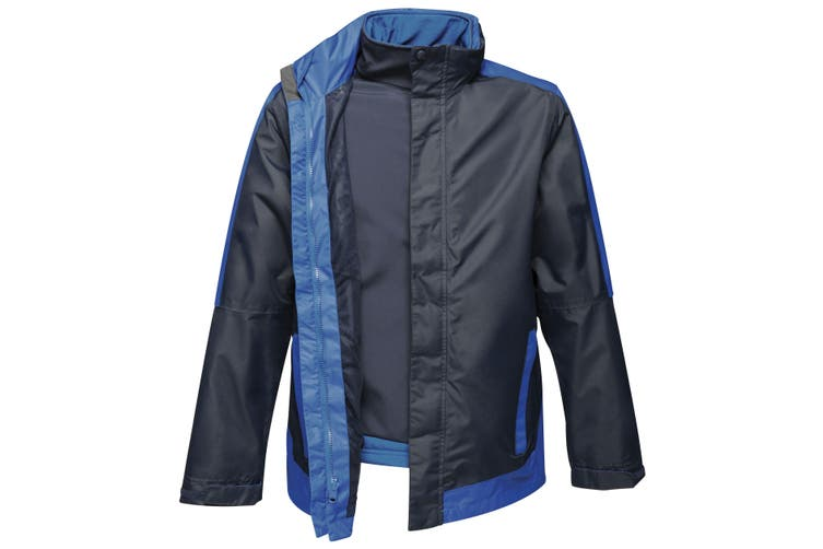 Regatta Mens Contrast 3-In-1 Jacket (Navy/New Royal Blue) (L)