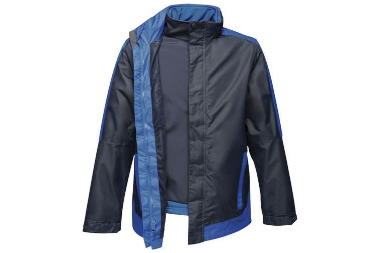 Regatta Mens Contrast 3-In-1 Jacket (Navy/New Royal Blue) (XL)
