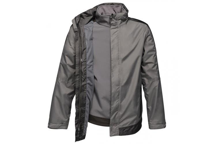Regatta Mens Contrast 3-In-1 Jacket (Seal Grey/Black) (2XL)