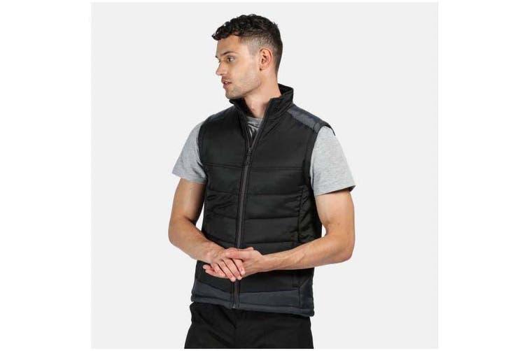 Regatta Mens Contrast Insulated Bodywarmer (Black/Seal Grey) (M)