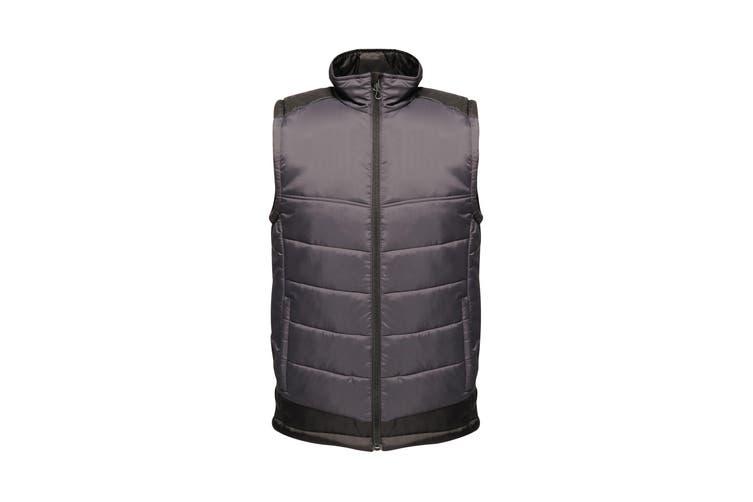 Regatta Mens Contrast Insulated Bodywarmer (Seal Grey/Black) (4XL)