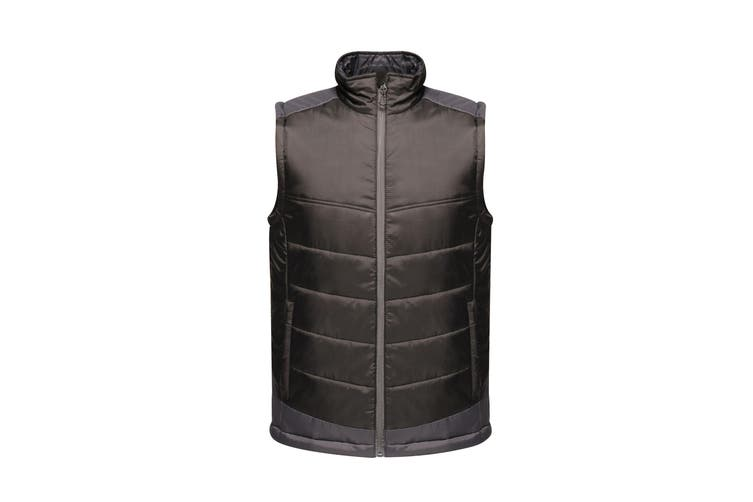 Regatta Mens Contrast Insulated Bodywarmer (Black/Seal Grey) (2XL)