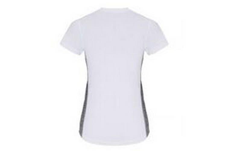 TriDri Womens/Ladies Contrast Panel Performance T-Shirt (White/Black Melange) (M)