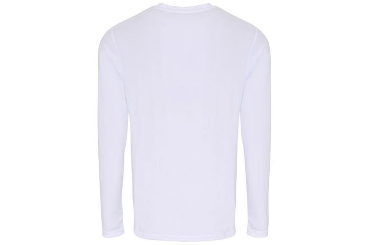 TriDri Mens Long Sleeve Performance T-Shirt (White) (XL)
