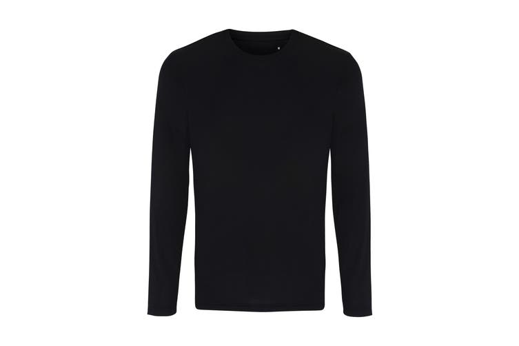 TriDri Mens Long Sleeve Performance T-Shirt (Black) (L)