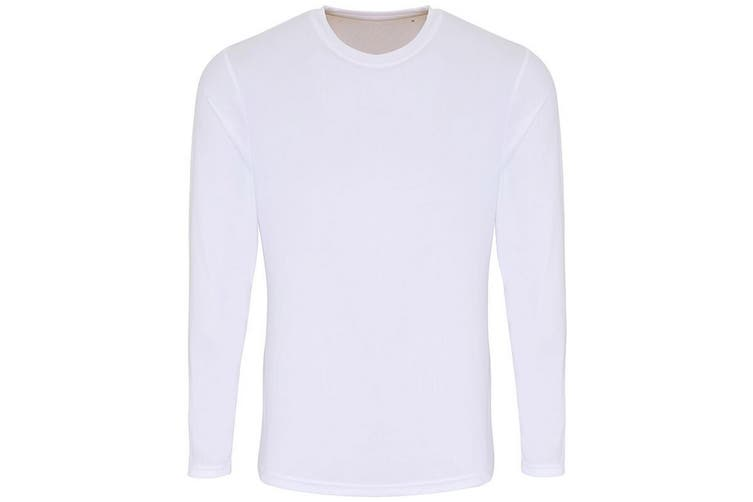 TriDri Mens Long Sleeve Performance T-Shirt (White) (2XL)