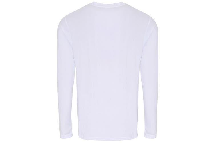 TriDri Mens Long Sleeve Performance T-Shirt (White) (3XL)