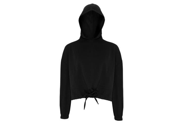 TriDri Womens/Ladies Cropped Oversize Hoodie (Black) (2XL)