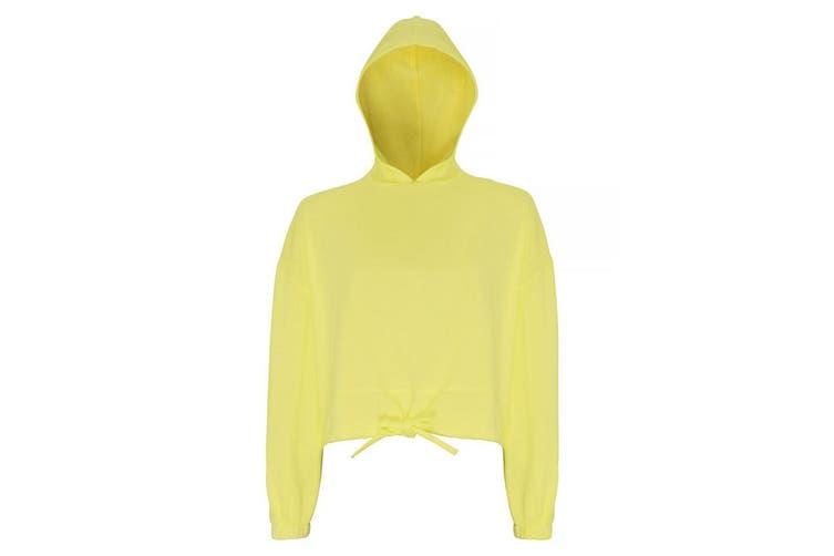TriDri Womens/Ladies Cropped Oversize Hoodie (Lemon) (2XL)