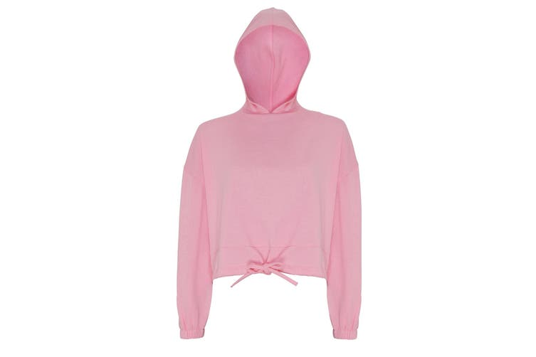 TriDri Womens/Ladies Cropped Oversize Hoodie (Light Pink) (L/XL)