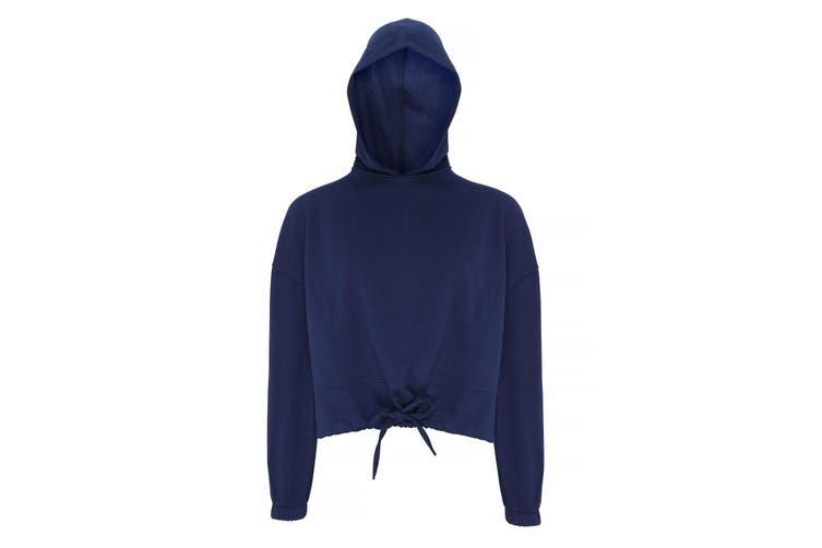 TriDri Womens/Ladies Cropped Oversize Hoodie (Navy) (S/M)