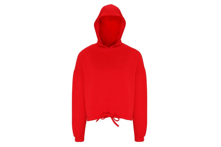 TriDri Womens/Ladies Cropped Oversize Hoodie (Fire Red) (2XL)