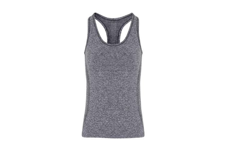 TriDri Womens/Ladies Seamless 3D Fit Multi Sport Sculpt Vest (Charcoal) (XS)