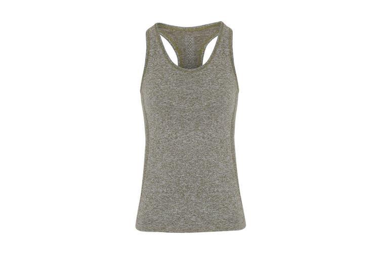 TriDri Womens/Ladies Seamless 3D Fit Multi Sport Sculpt Vest (Olive) (XL)