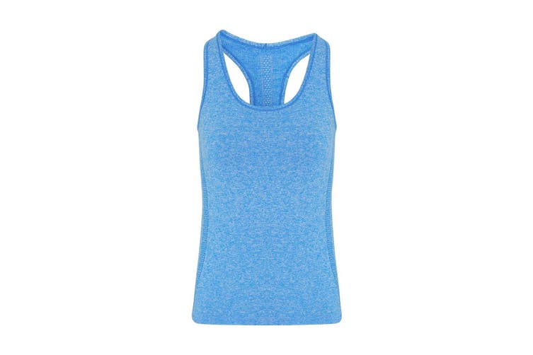 TriDri Womens/Ladies Seamless 3D Fit Multi Sport Sculpt Vest (Sapphire Blue) (XL)