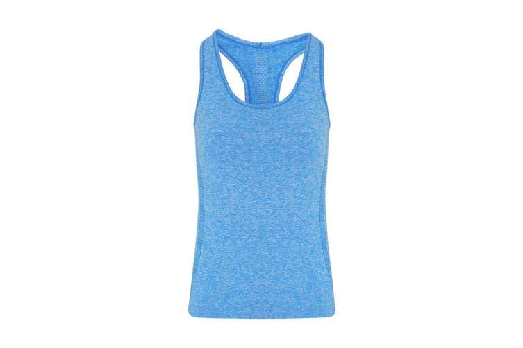 TriDri Womens/Ladies Seamless 3D Fit Multi Sport Sculpt Vest (Sapphire Blue) (XS)