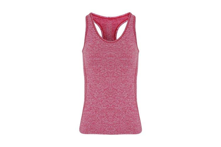 TriDri Womens/Ladies Seamless 3D Fit Multi Sport Sculpt Vest (Burgundy) (XS)