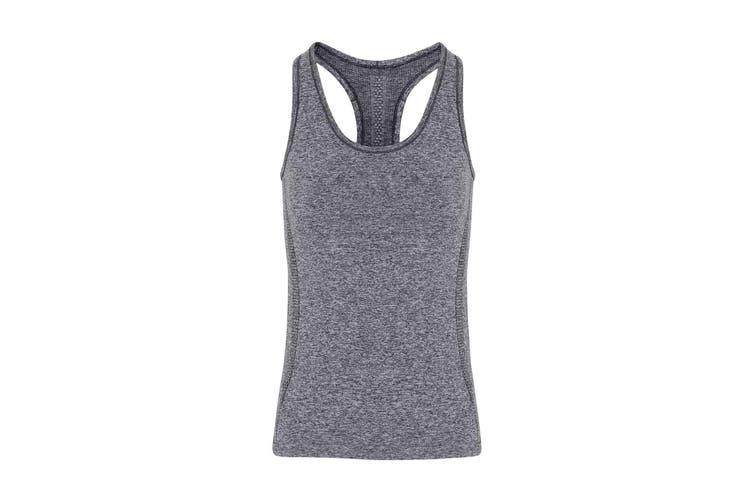 TriDri Womens/Ladies Seamless 3D Fit Multi Sport Sculpt Vest (Charcoal) (XL)