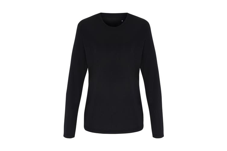 TriDri Womens/Ladies Long Sleeve Performance T-Shirt (Black) (XL)