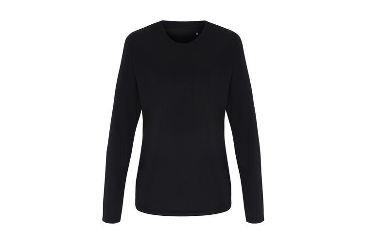 TriDri Womens/Ladies Long Sleeve Performance T-Shirt (Black) (XS)