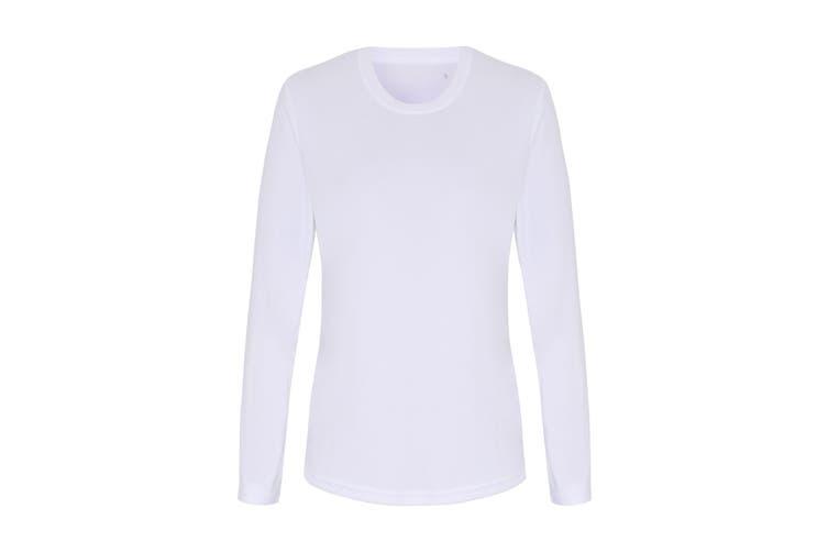 TriDri Womens/Ladies Long Sleeve Performance T-Shirt (White) (M)