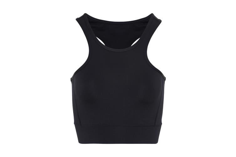 TriDri Womens/Ladies Performance Sports Mid Length Bra (Black) (XL)