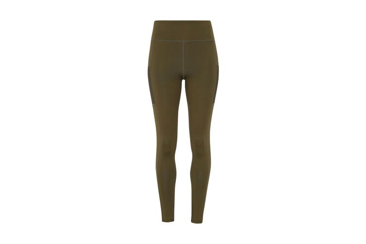TriDri Womens/Ladies Performance Compression Leggings (Olive Green) (S)