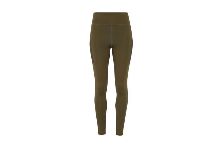 TriDri Womens/Ladies Performance Compression Leggings (Olive Green) (XL)