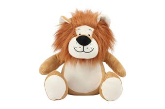 Mumbles Zippie Lion Plush Toy (Brown) (One Size)