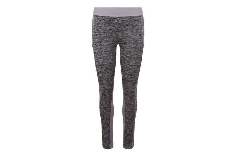 AWDis Just Cool Womens/Ladies Girlie Cool Dynamic Leggings (Grey Melange/Grey) (M)