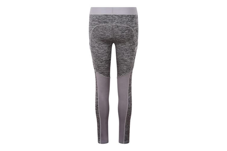 AWDis Just Cool Womens/Ladies Girlie Cool Dynamic Leggings (Grey Melange/Grey) (XL)