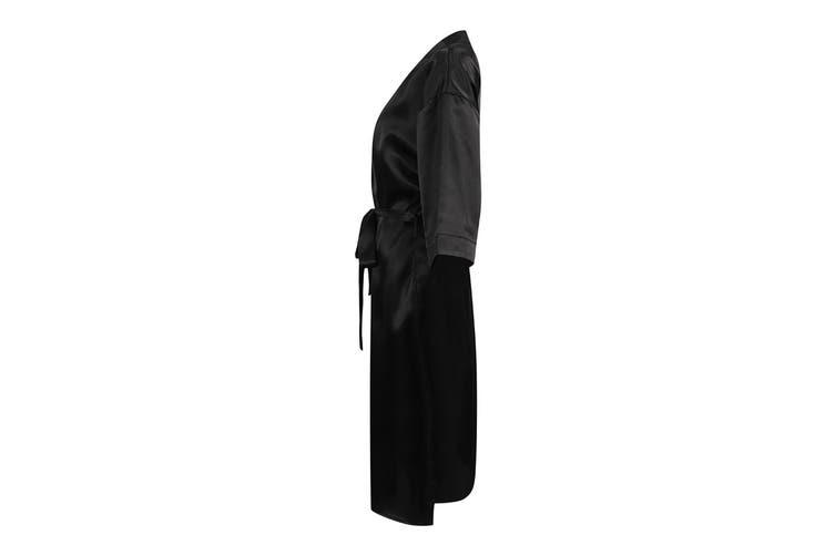 Towel City Womens/Ladies Satin Robe (Black) (8/10 UK)