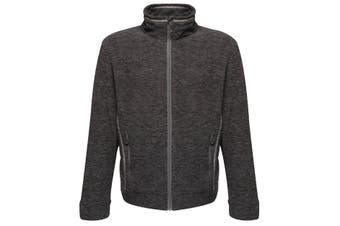 Regatta Mens Thornly Full Zip Marl Fleece Jacket (Seal Grey Marl) (L)