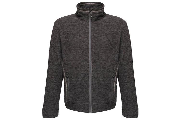 Regatta Mens Thornly Full Zip Marl Fleece Jacket (Seal Grey Marl) (S)
