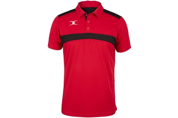 Gilbert Mens Photon Polo Shirt (Red/Black) (S)