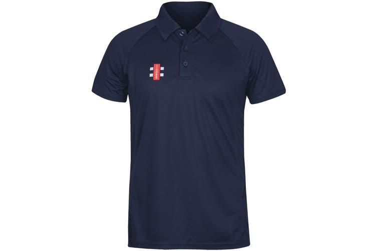 Gray-Nicolls Mens Matrix Polo Shirt (Navy) (M)