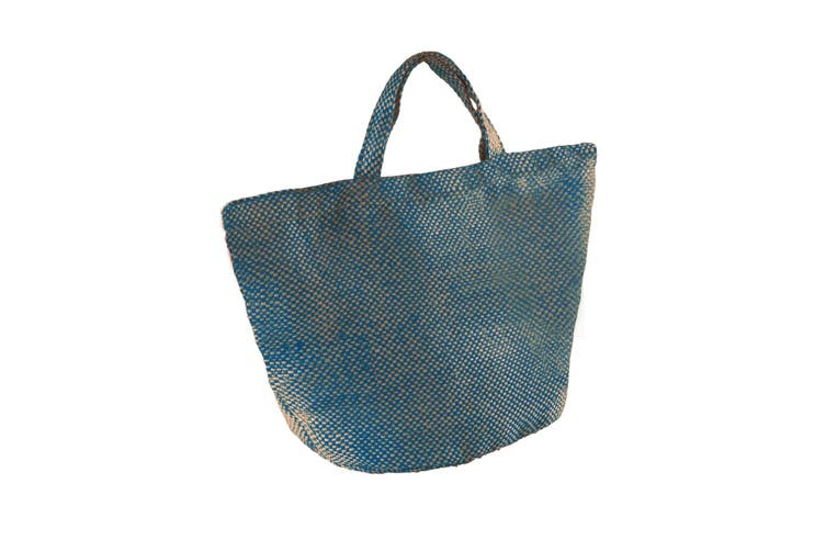 Kimood Womens/Ladies Fashion Jute Bag (Pack of 2) (Natural/Ink Blue) (One Size)
