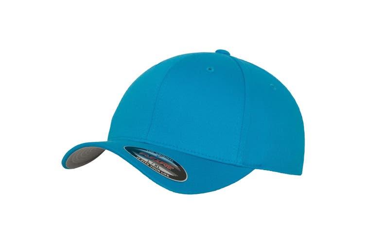 Yupoong Mens Flexfit Fitted Baseball Cap (Pack of 2) (Hawaiian Ocean) (LXL)