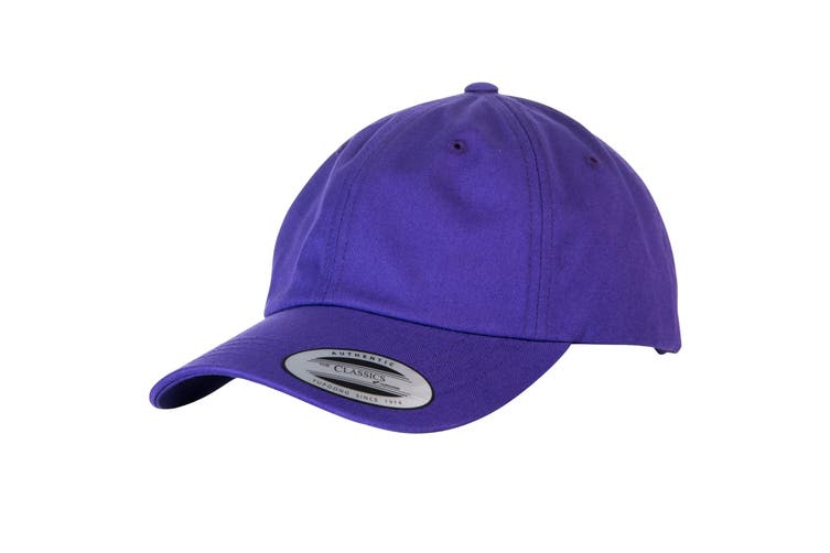 Yupoong Flexfit 6-panel Baseball Cap With Buckle (Pack of 2) (Purple) (One Size)