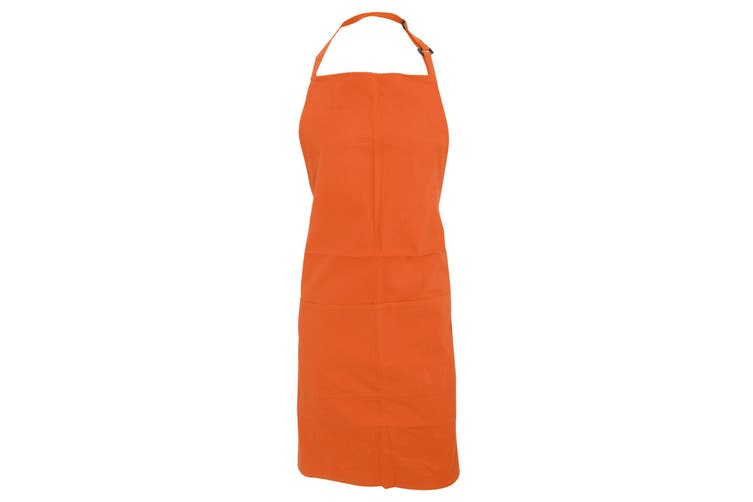 Bargear Adults Unisex Catering/Restaurant Bib Apron (Pack of 2) (Orange) (One Size)