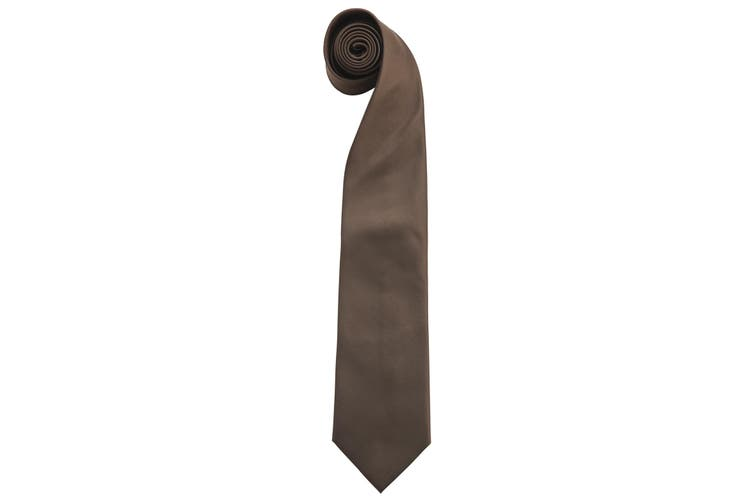 "Premier Mens Fashion ""Colours"" Work Clip On Tie (Pack of 2) (Brown) (One Size)"