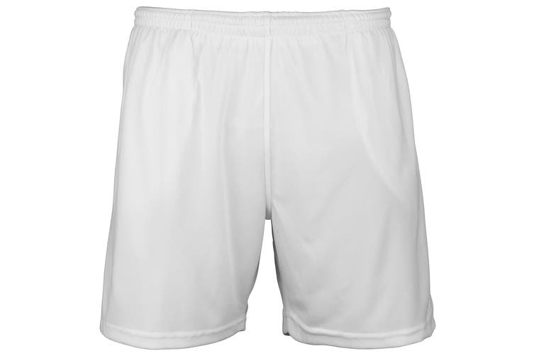 Just Cool Mens Sports Shorts (Arctic White) (S)
