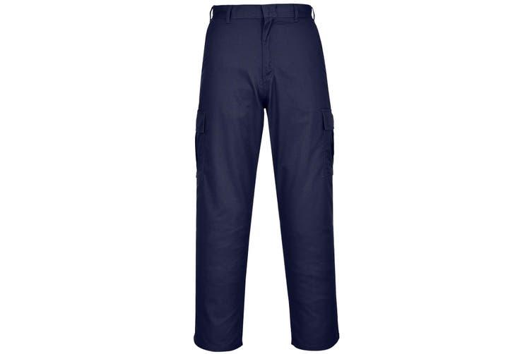 Portwest Mens Combat Work Trousers (Pack of 2) (Dark Navy) (34R)