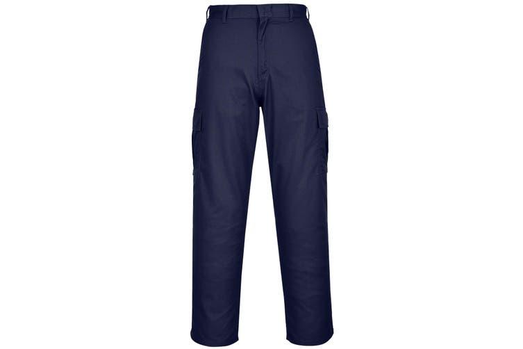 Portwest Mens Combat Work Trousers (Pack of 2) (Dark Navy) (30R)