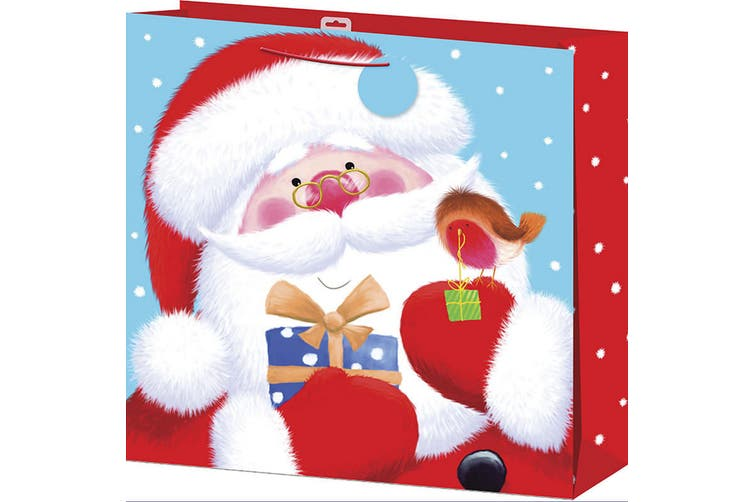 Christmas Shop Giant Gift Bag (Pack of 2) (Santa) (One size)