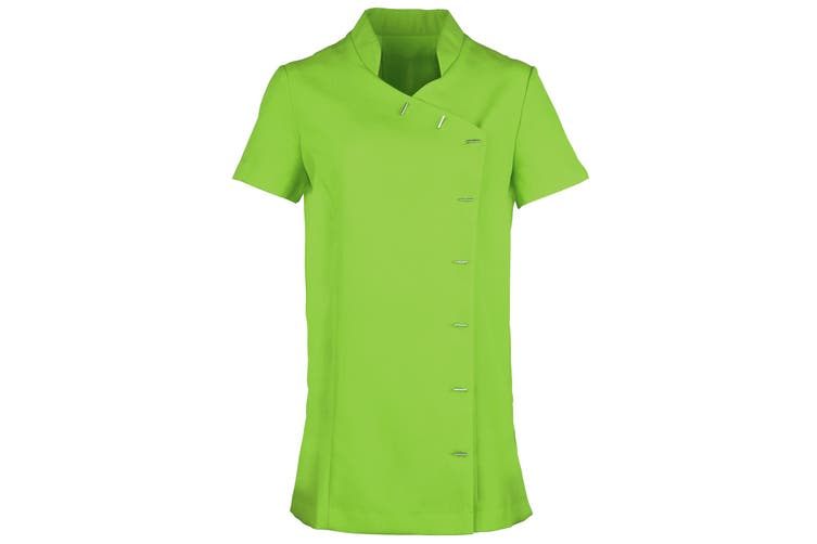 Premier Womens/Ladies *Orchid* Tunic / Health Beauty & Spa / Workwear (Pack of 2) (Lime) (10)