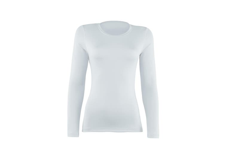 Rhino Womens/Ladies Sports Baselayer Long Sleeve (Pack of 2) (White) (8)