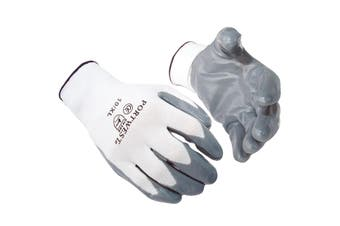 Portwest Flexo Grip Nitrile Gloves (A310) / Safetywear / Workwear (Pack of 2) (Grey) - UTRW7030